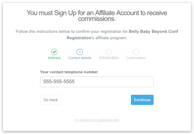 Affiliate Signup Tutorial | Belly, Baby and Beyond